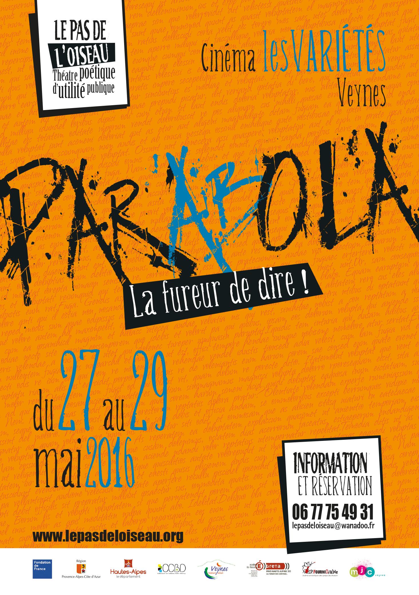 Parabola 2016 : le programme !